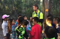 Preparing Beijing students for a bushwalk on Fraser Island