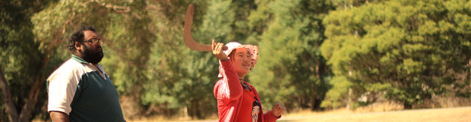 Grampians, Halls Gap School Camp, the Dreamtime Quest Program - Boomerang Throwing Workshop