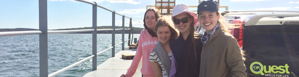 Catching the Barge from Phillip Island School Camp Victoria - Quest Skills for Life Island Ranger program 2014